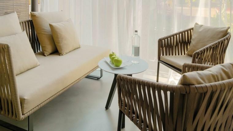 manzana mesa cuerdas aluminio kettal