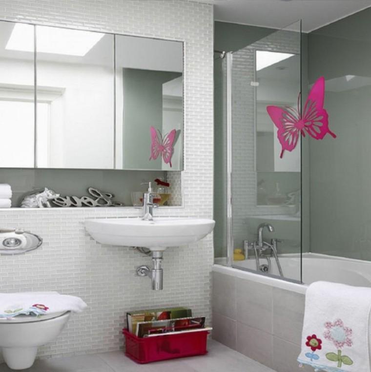 mariposa rosa cabina ducha luminosa