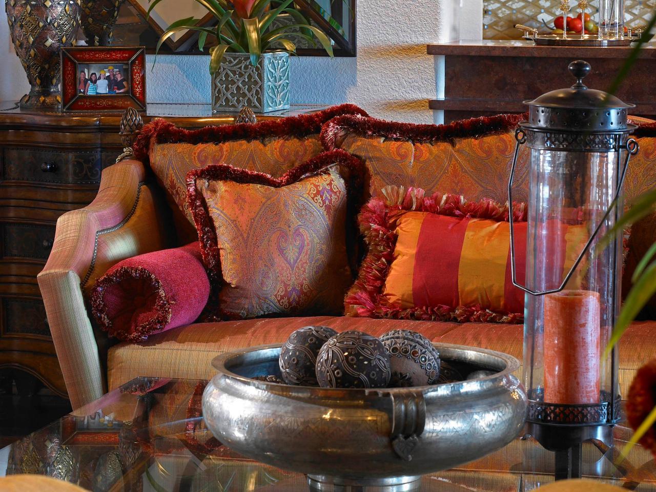 marruecos plato decorativo plata sofa cojines
