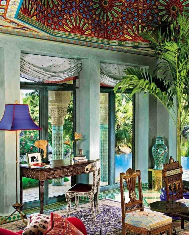 marruecos salon exotico estilo colores vibrantes ideas