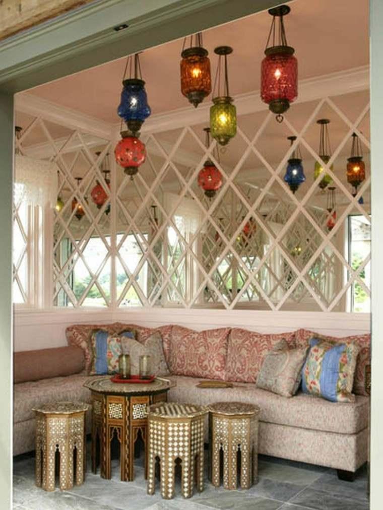 marruecos salon mesas interesantes faroloes colores ideas