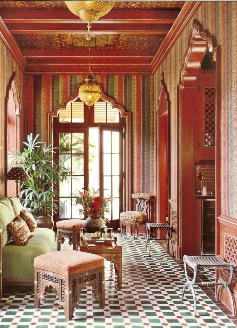 marruecos salon mosaico ventanas grandes sillas
