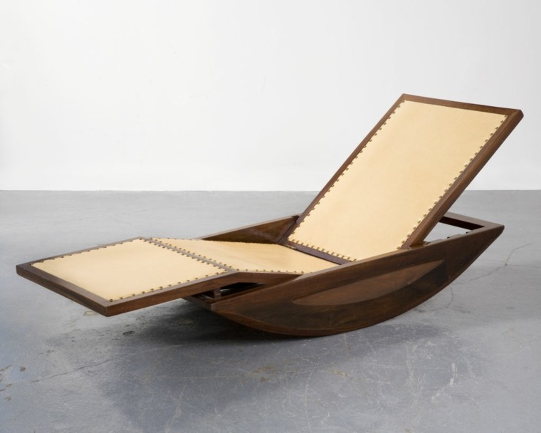 mecedora original madera beige estilo