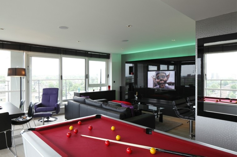 mesa billard ideas decoracion piso ideas moderno
