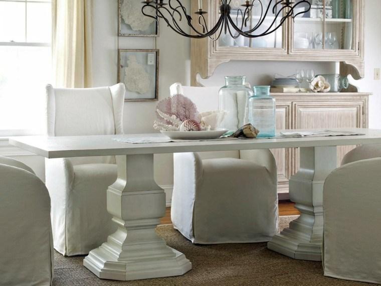 mesa blanca grande sillas comoda modernos blancas
