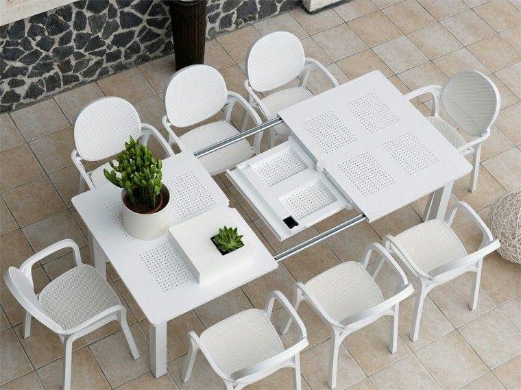 Mesas para el jard n esticas practicas modernas for Mesas de plastico para jardin