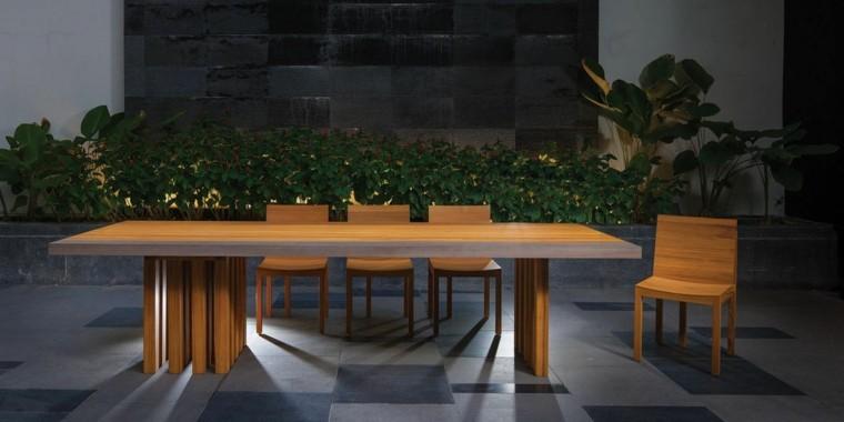 mesa bonita jardin teca grande