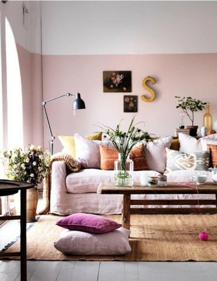 mesa cafe forma rectangular madera sofa ideas comodo