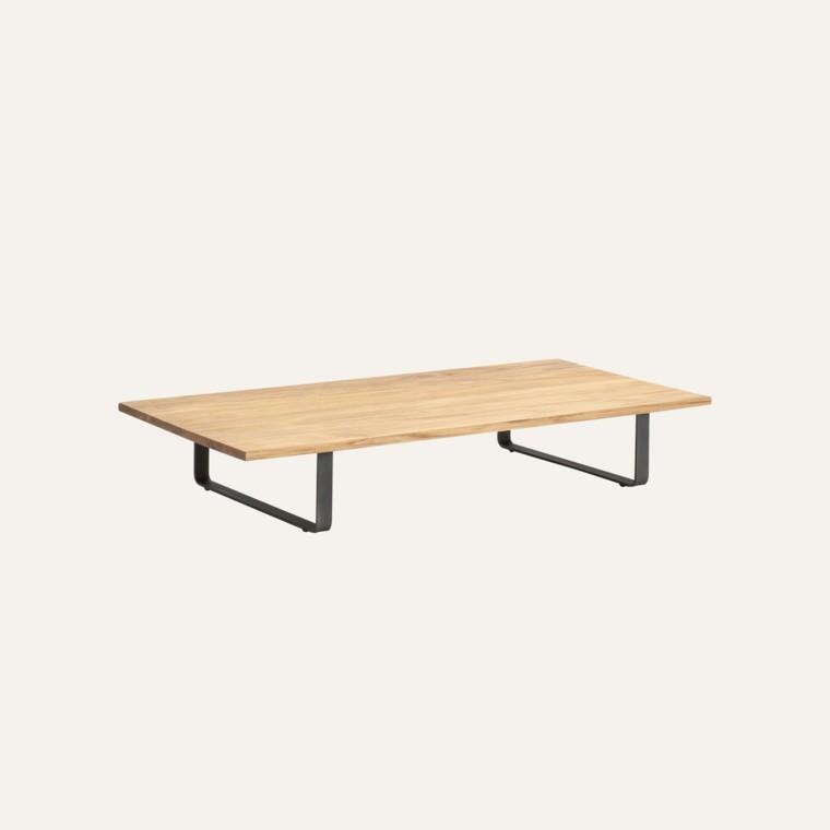mesa centro teca madera bitta diseño