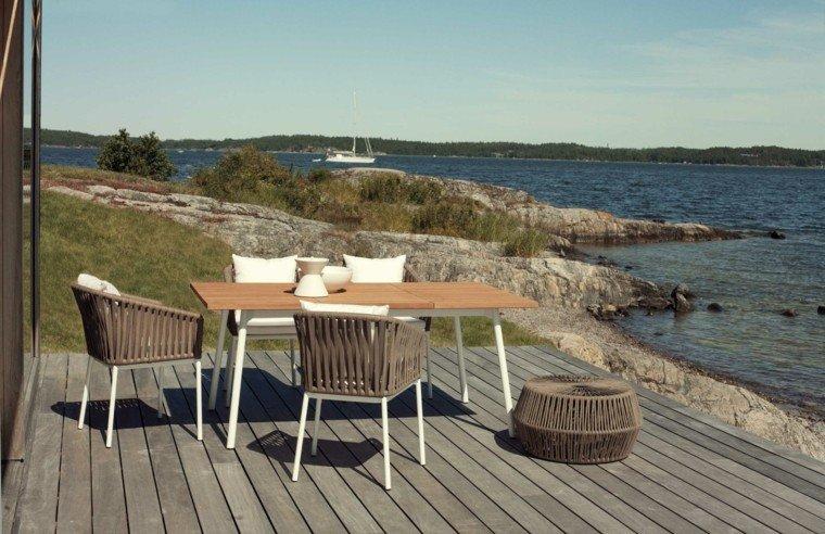 mesa comedor exterior sillas exterior