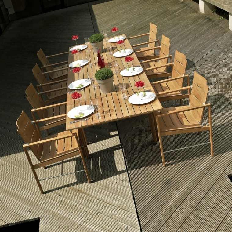 Mesas de jardin madera un espacio de relax en el jardin - Listones madera leroy merlin ...