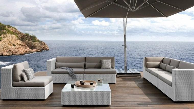 mesa creativo exterior diseño sombrilla
