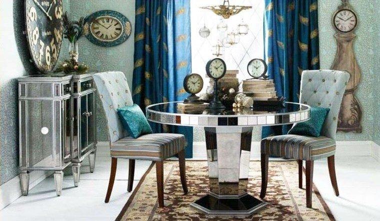 mesa redonda espejos decorativos