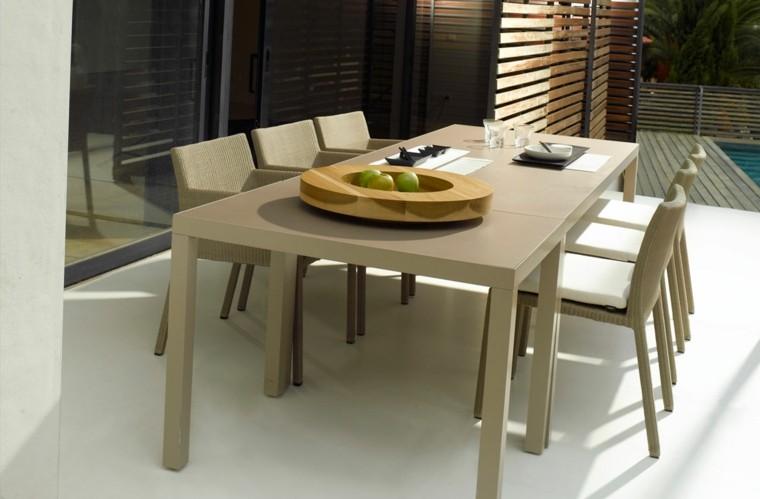 mesa decoracion exterior moderno exterior