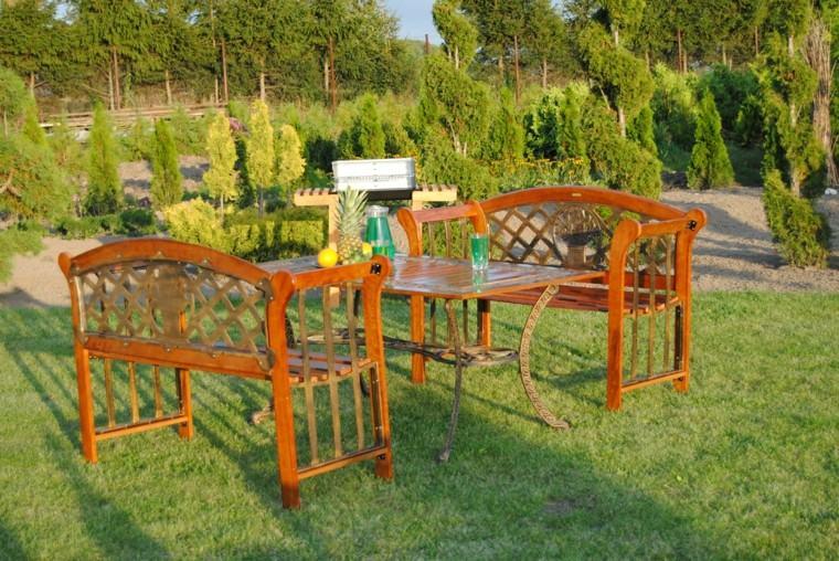 mesa encimera marmol barbacoa fiesta jardin ideas
