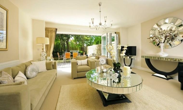 Espejos decorativos para dise os de muebles for Espejos redondos para salon