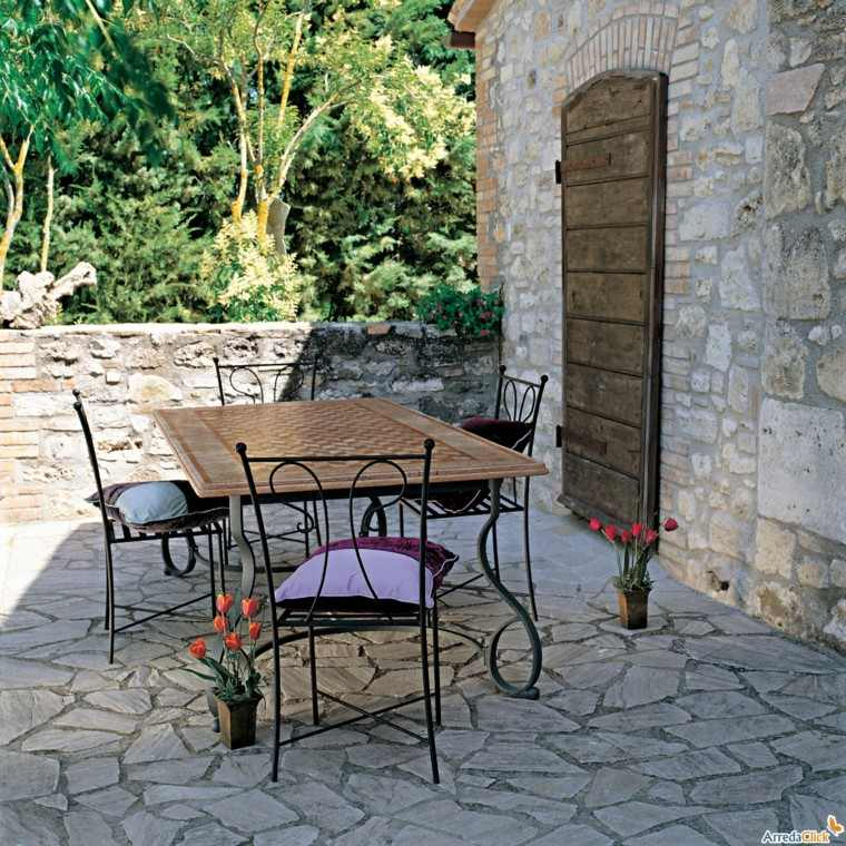 mesa jardin rectangular estilo vintage marmol jardin
