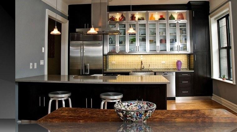 mesa madera cocinas rústicas modernas