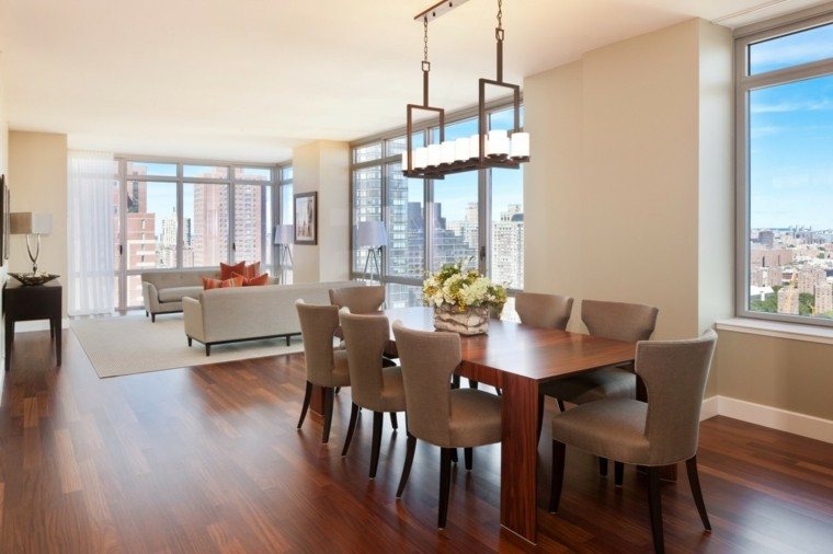 Mesas de comedor y sillas de comedor ideas excepcionales for Comedor grande moderno