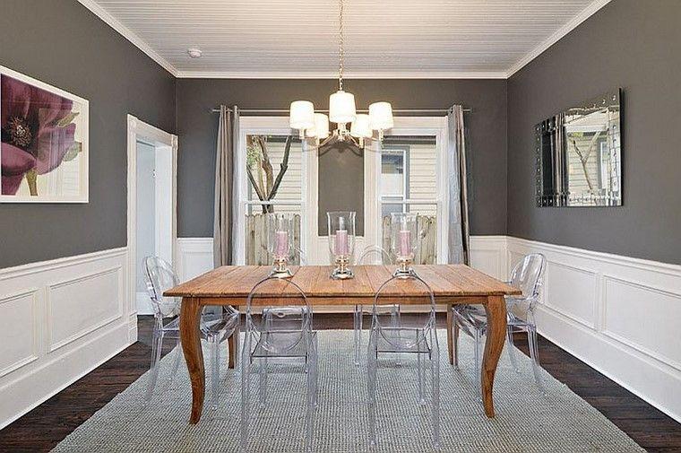 mesa madera vasos espejos blanco