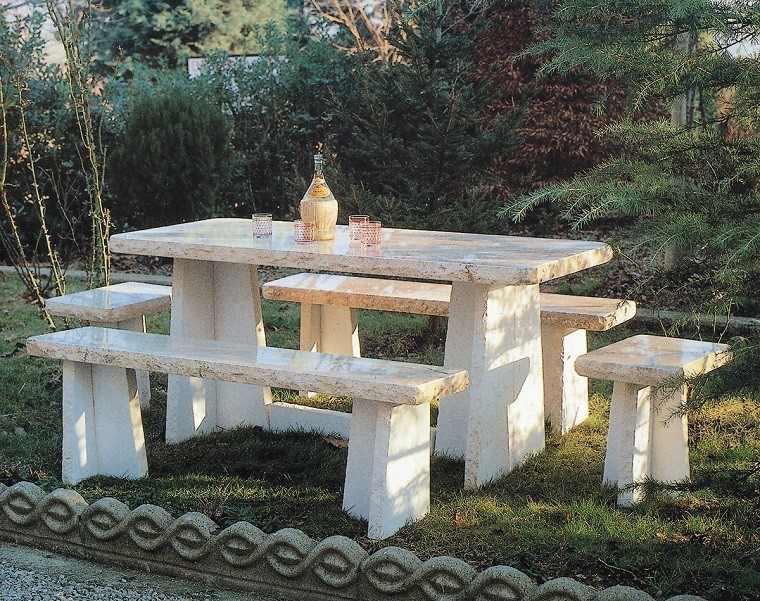 mesa marmol ideas antiguedad jardin moderno