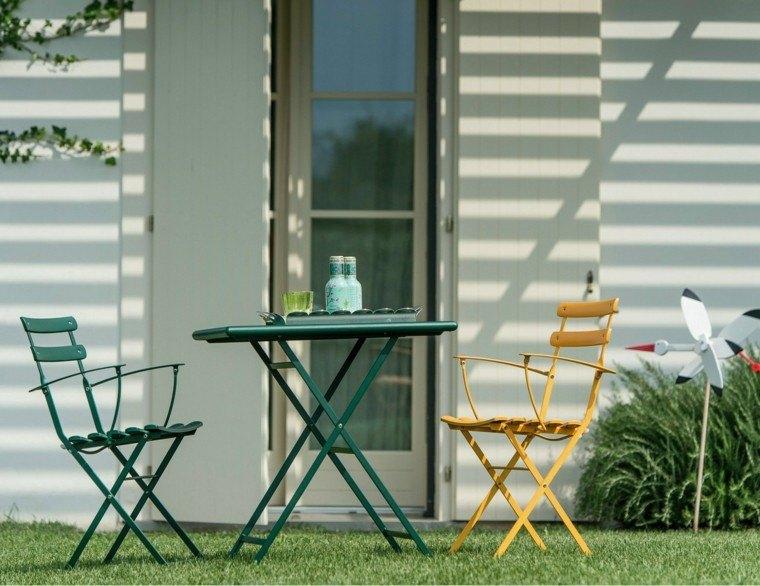 mesa plegable ideas verde oscuro comoda jardin