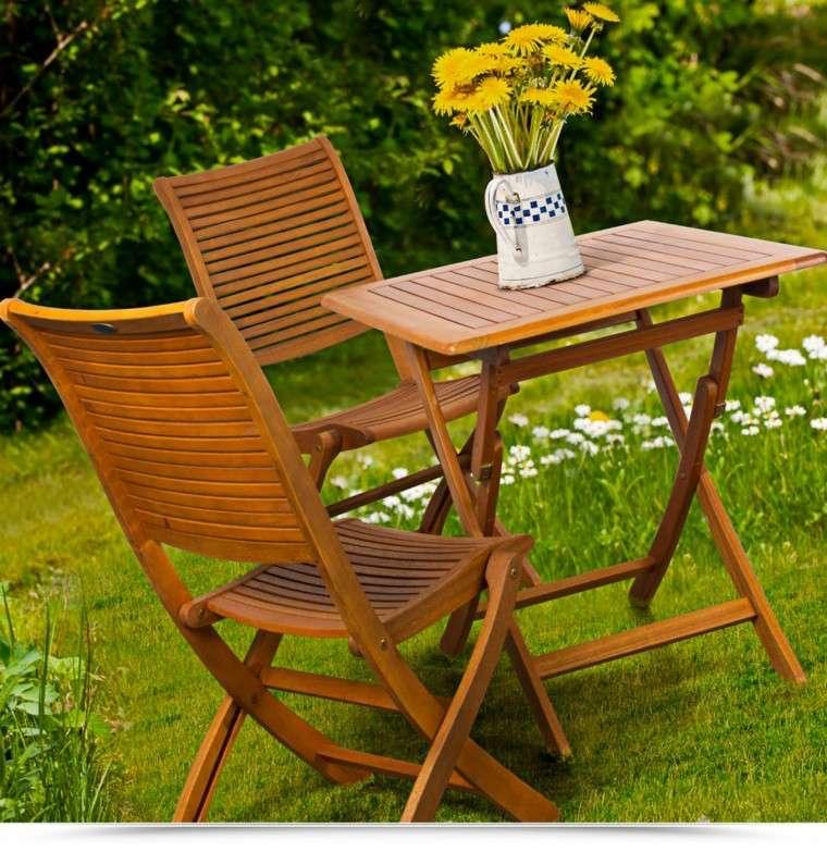 Mesas para el jard n esticas practicas modernas for Mesas de madera para jardin