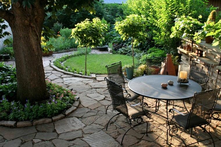mesas acero negro reistentes duraderos jardin moderno