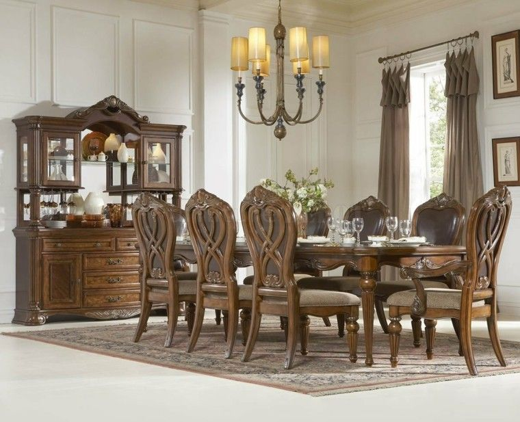 mesas de comedor clasico madera sillas moderno interesantes