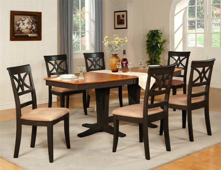 mesas de comedor forma interesante sillas cuero