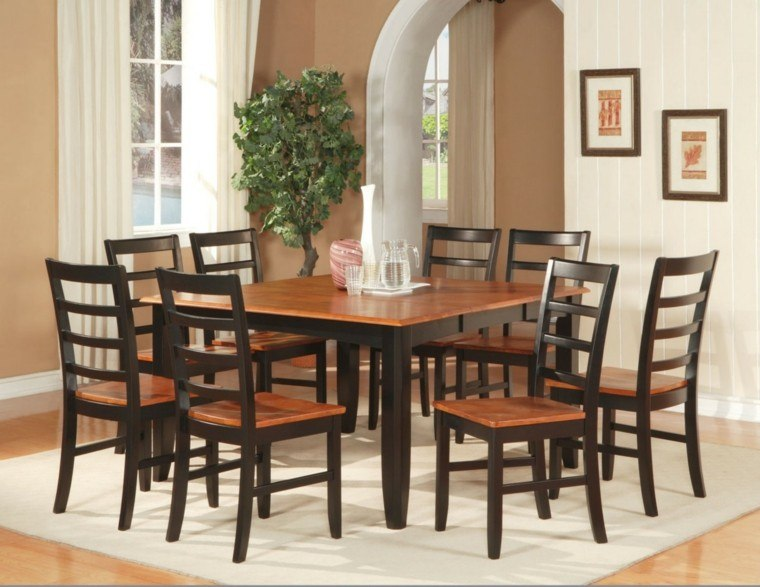 Mesas de comedor y sillas de comedor ideas excepcionales for Mesas de comedor cuadradas de diseno