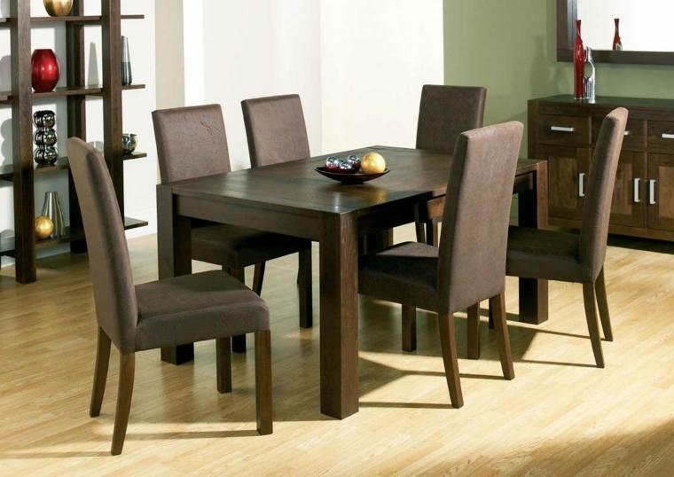 mesas de comedor sillas tapizadas respaldos ideas cuero