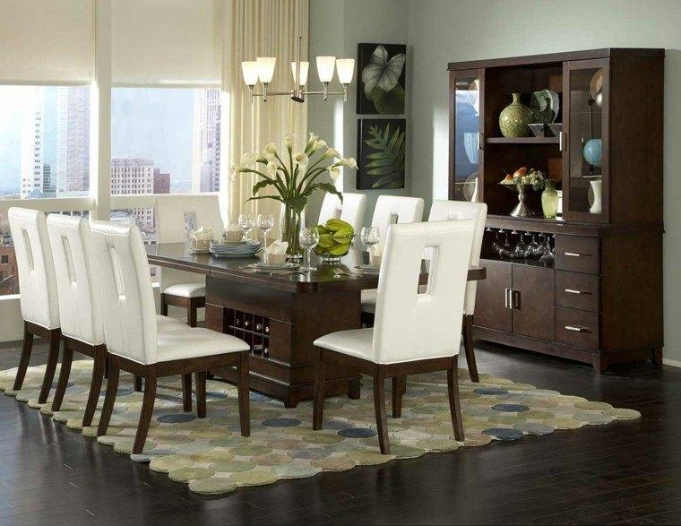mesas de comedro sillas cuero blanco lugar botellas ideas