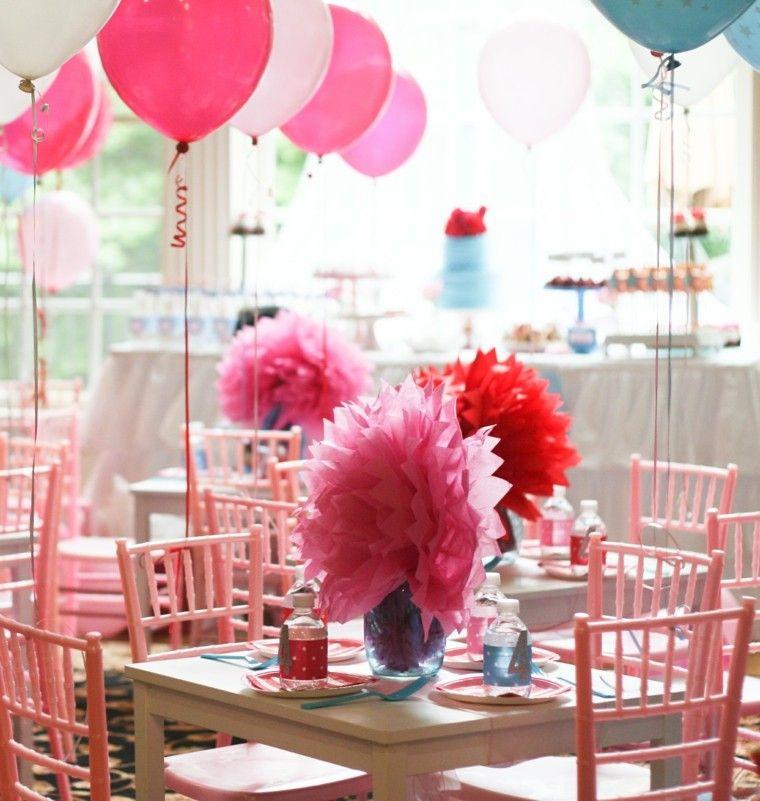 mesas decoradas globos ideas mesas chica cumpleanos