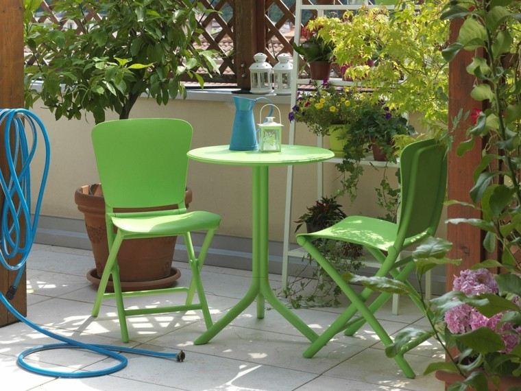 mesas plastico ideas color verde perfecto jardin moderna