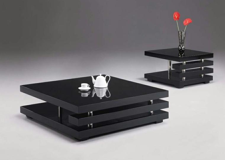 mesillas cafe negras modernas flores