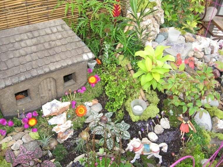 mini casitas piedra decorativas