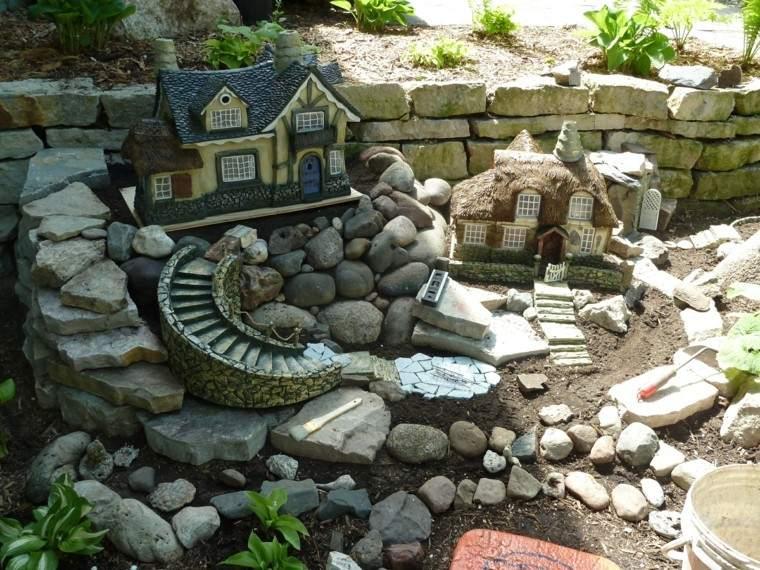 miniaturas rocas jardines casita miniatura