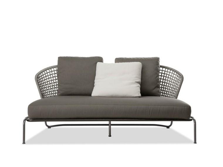 minotti gris cojines sofa respaldo