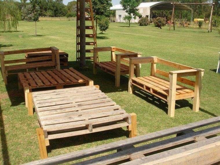 beautiful mobiliario de jardn con palets terraza cesped with muebles para bao pequeo