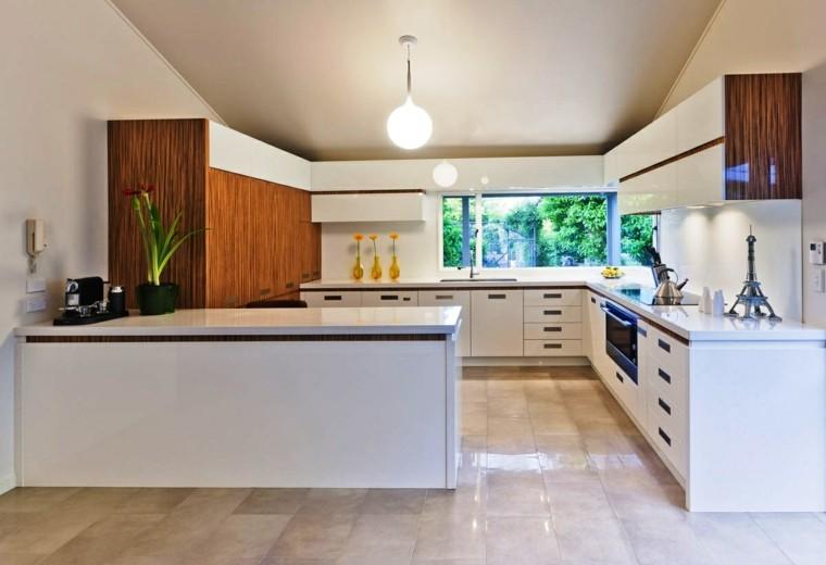 moderna cocina diseño interiores brillo