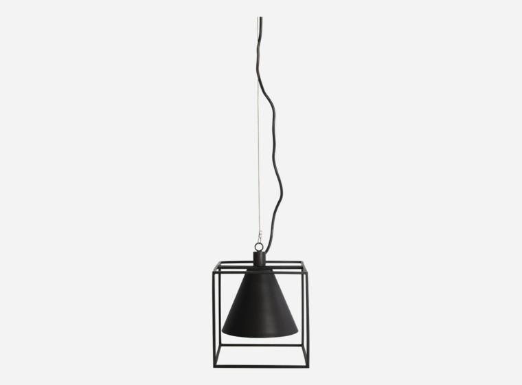 moderna lampara negra colgante techo