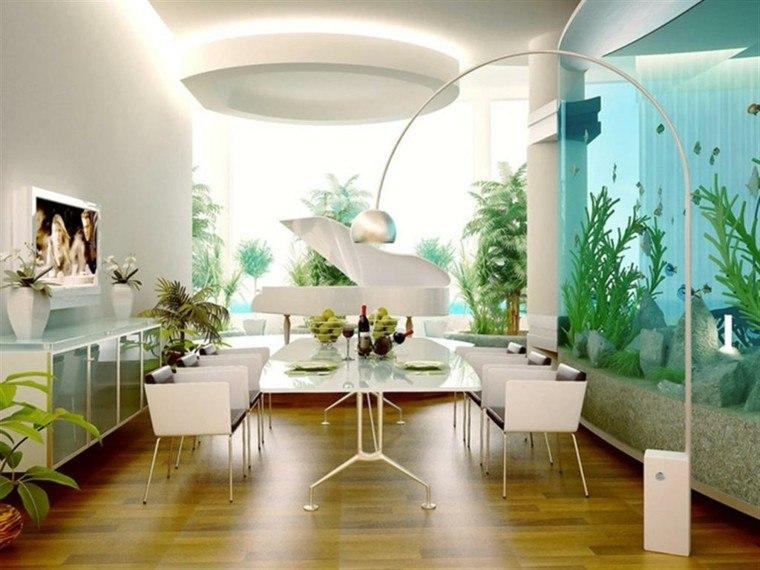 modernas ideas mesa pie acero sillas blancas comodas