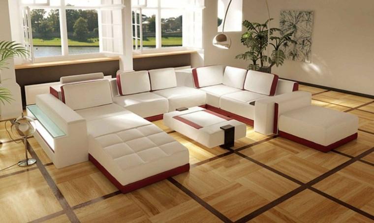 moderno cama blanco rojo plantas