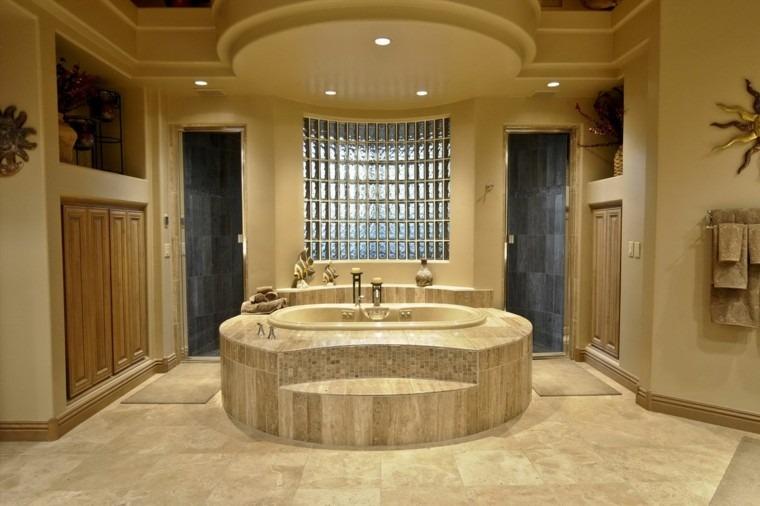 moderno dorado piedra baño luces