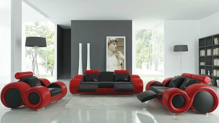 moderno sofa negro salon cilindrico