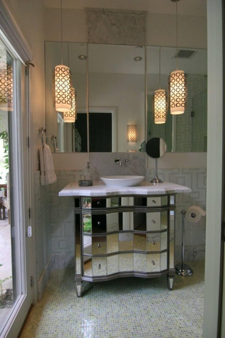 mueble baño cajones espejo retro