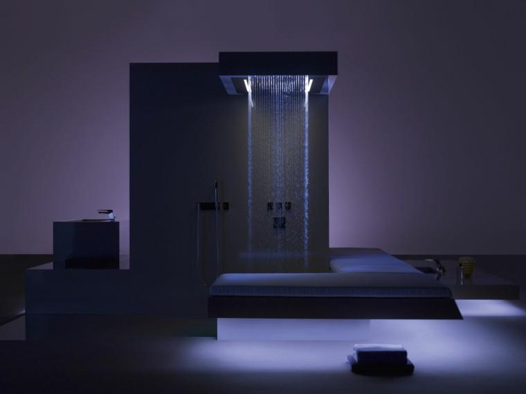 mueble decoracion baño ducha luces