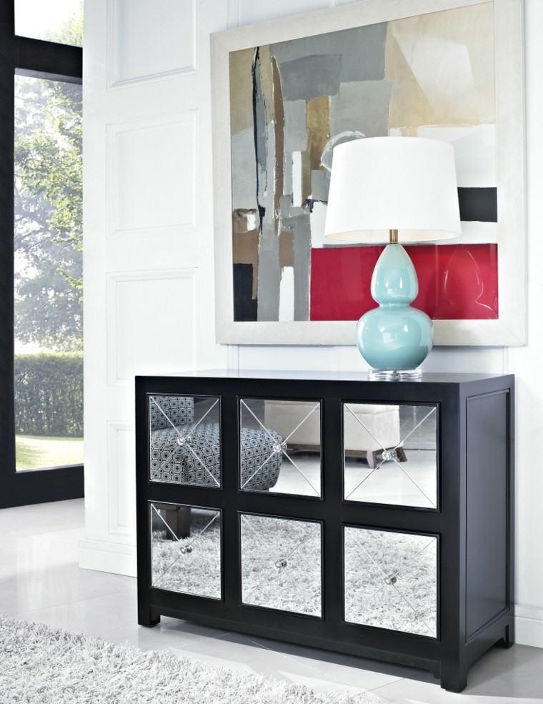 mueble entrada espejos decorativos moderno