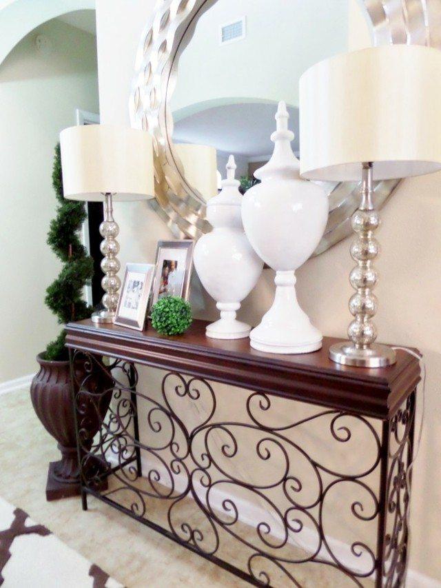 mueble interesante lamparas espejo diseño redondo